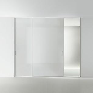 Drzwi przesuwne z profilem maskujacym Graphis Light