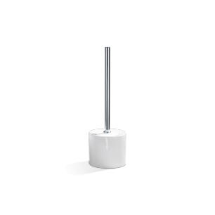 Szczotka Toaletowa Biała Porcelana Chrom