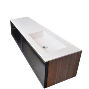 Umywalka zaintegrowana z blatem i szafką z szufladami